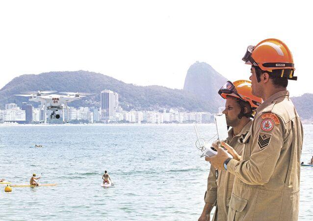 Drones usados pelos Corpo de Bombeiros do Rio de Janeiro