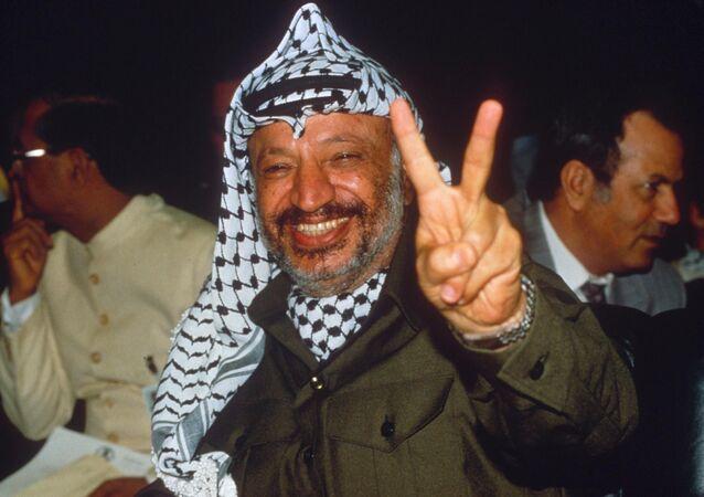 Líder palestino Yasser Arafat (morto em 2004)