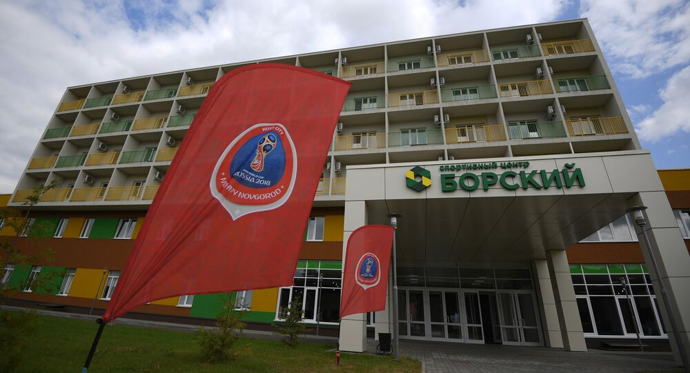 Borksy sports center built as a training venue for the 2018 FIFA World Cup