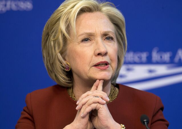 Former Secretary of State Hillary Rodham Clinton speaks in Washington. (File)
