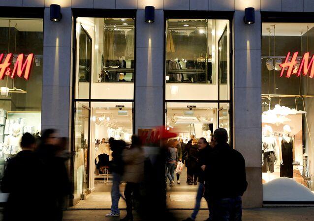 Loja do grupo de moda sueco H&M em Barcelona, Espanha