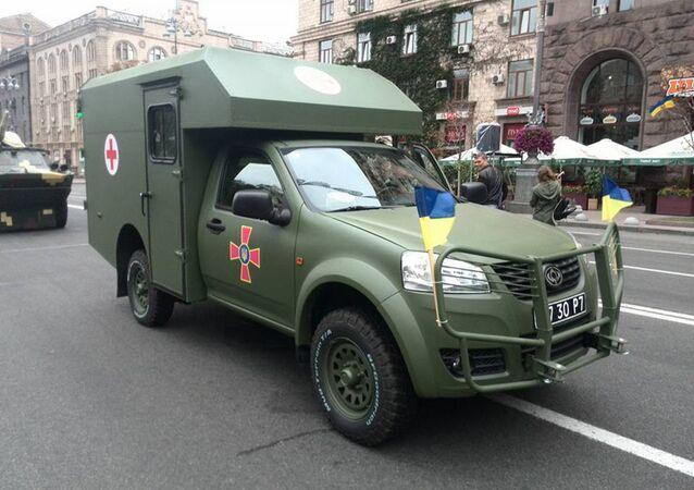 Ambulância ucraniana Bogdan-2251 (foto de arquivo)
