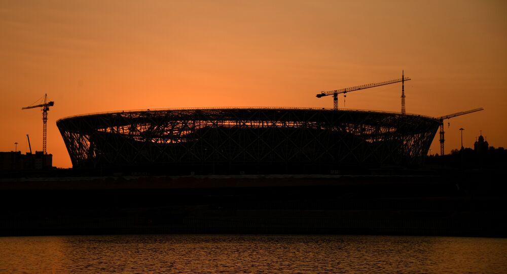 Volgograd Arena em construção, foto de arquivo
