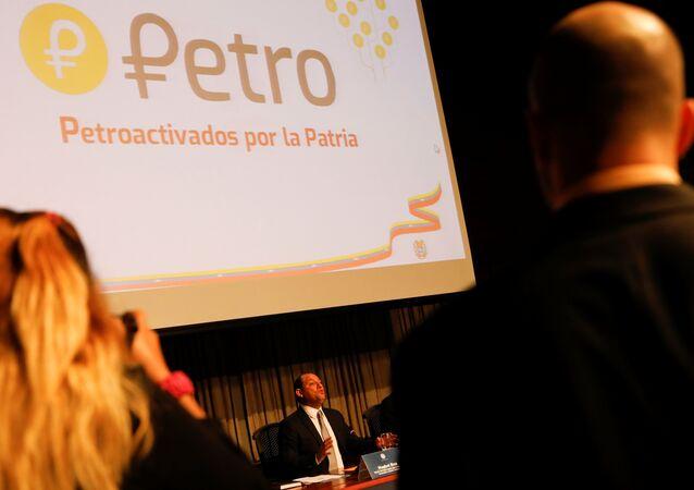 Logo do petro – a nova criptomoeda nacional da Venezuela