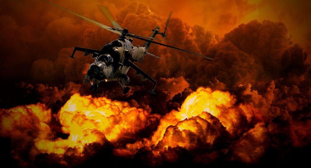 Helicóptero militar (imagem ilustrativa)