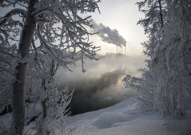 Inverno na Sibéria (foto de arquivo)