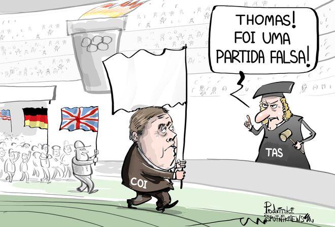 O start olímpico foi dado, mas era só uma pegadinha