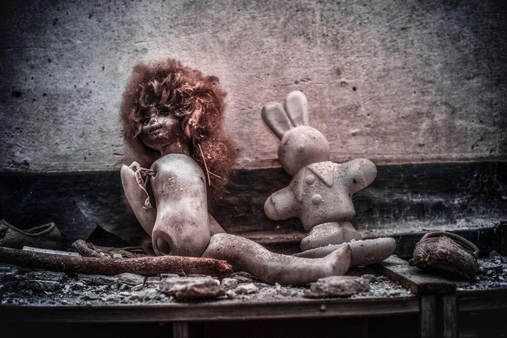 Brinquedos encontrados em jardim de infância, em Pripyat