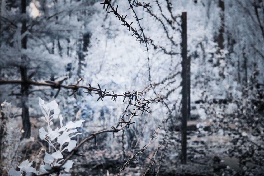 Arame farpado em Chernobyl