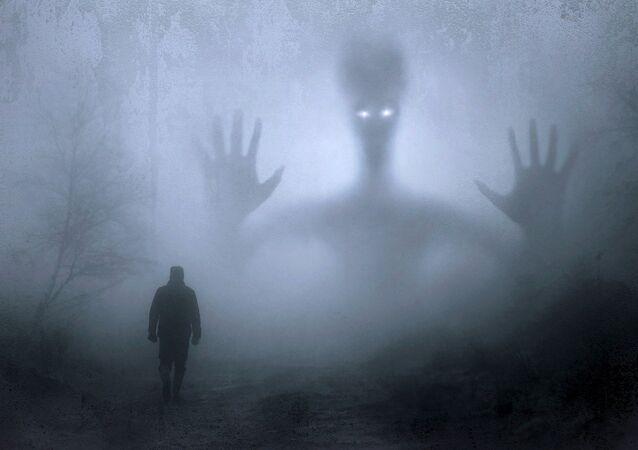 Estranha criatura alienígena