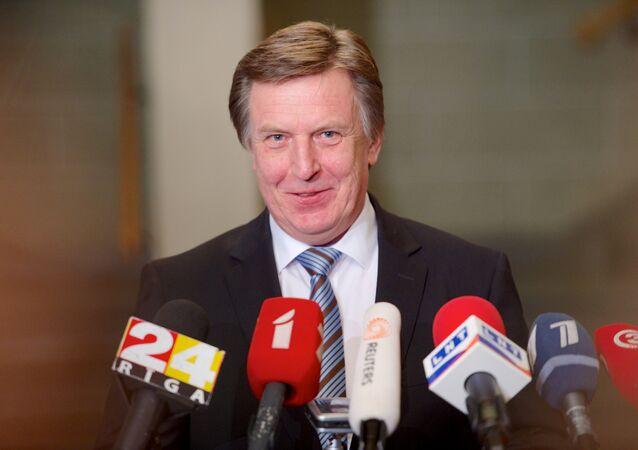 O premiê letão Maris Kucinskis