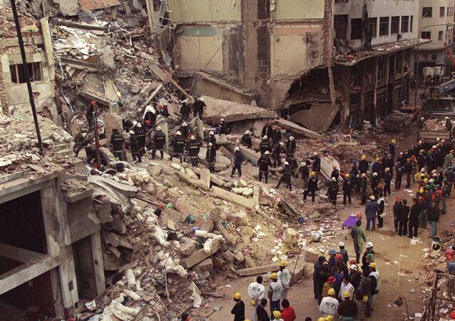Atentado terrorista à sede de um centro judaico na Argentina, em 18 de julho de 1994.