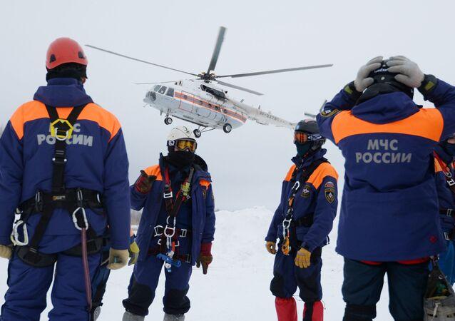 Russian rescue team