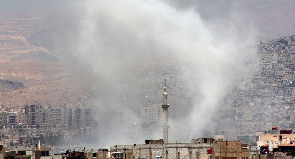 Ataque nos arredores de Damasco, Síria, 17 de maio de 2015