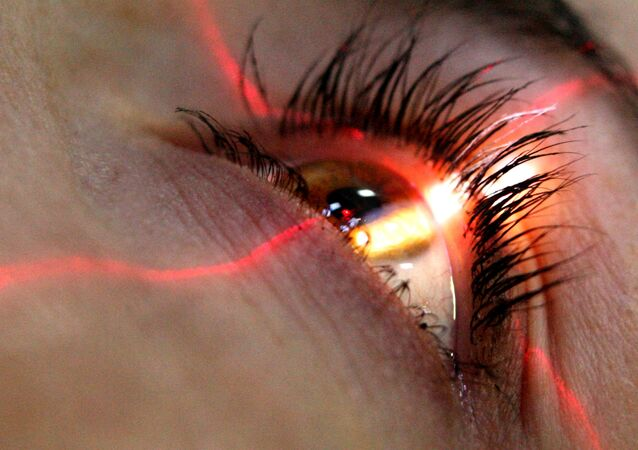 Olho durante operação (imagem referencial)