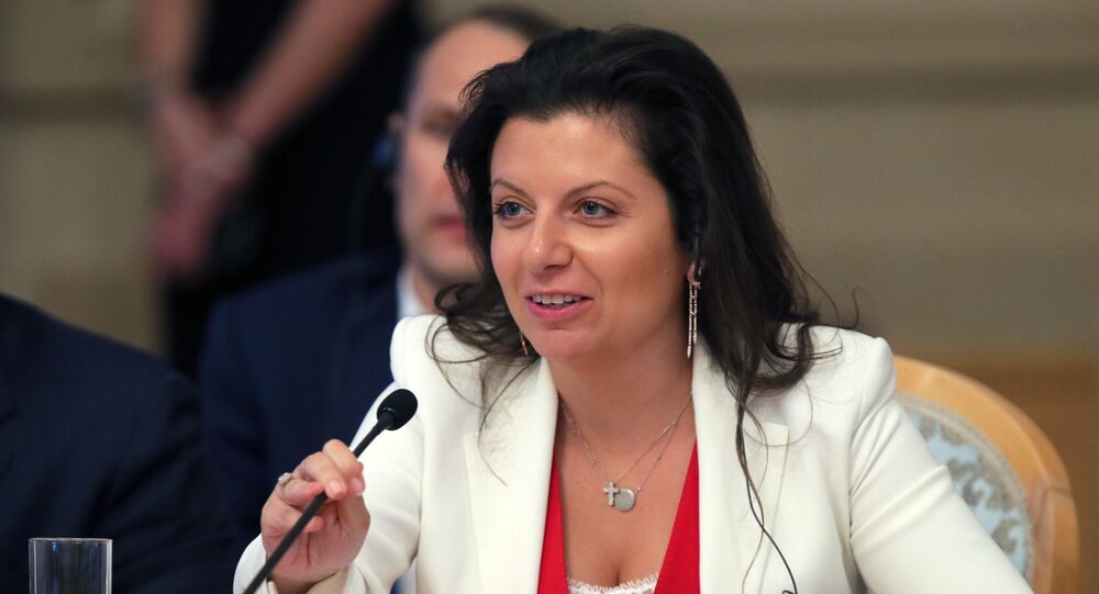 Editora-chefe do RT e da Sputnik, Margarita Simonyan no Terceiro Fórum de Mídia China-Rússia, Moscou