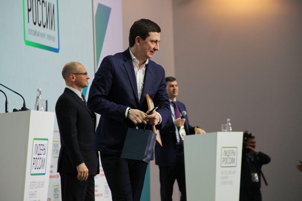 Igor Mischenko, funcionário da área de construção de Krasnodar, recebe título de vencedor do concurso Líderes da Rússia