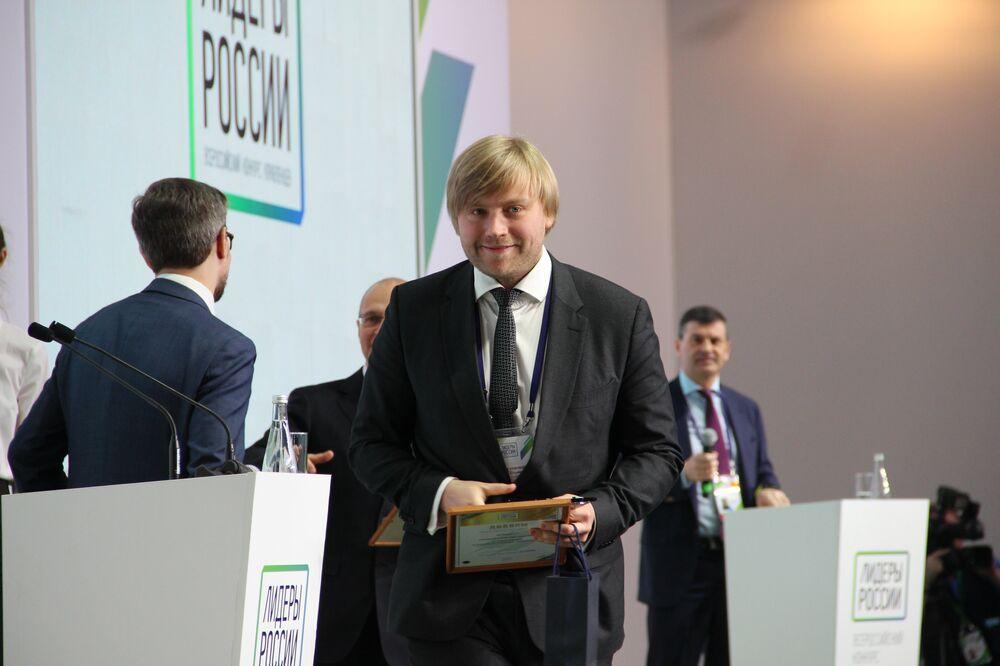 Stanislav Urzhumtsev, empresário de São Petersburgo, recebe título de vencedor do concurso Líderes da Rússia