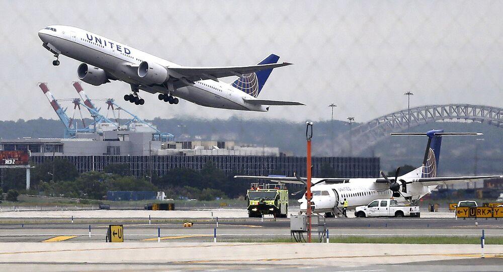 Aviões da empresa United Airlines
