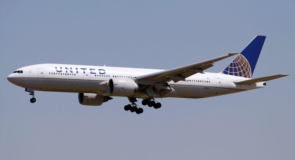 Avião da empresa United Airlines