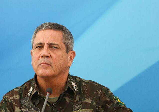 General Walter Souza Braga Netto, responsável pelo Comando Militar do Leste e indicado como interventor responsável pelas forças de segurança e o sistema prisional do Rio de Janeiro