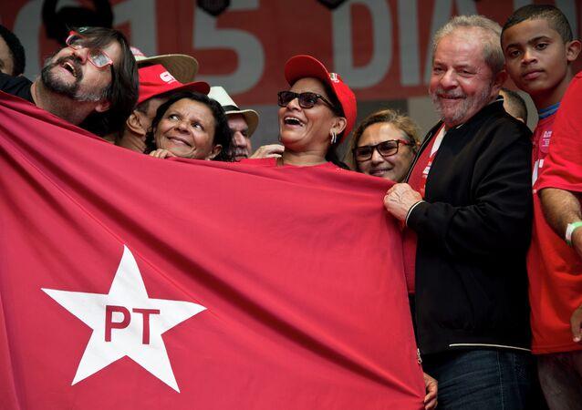 Ex-presidente Lula durante comemorações do Dia do Trabalhador, em São Paulo