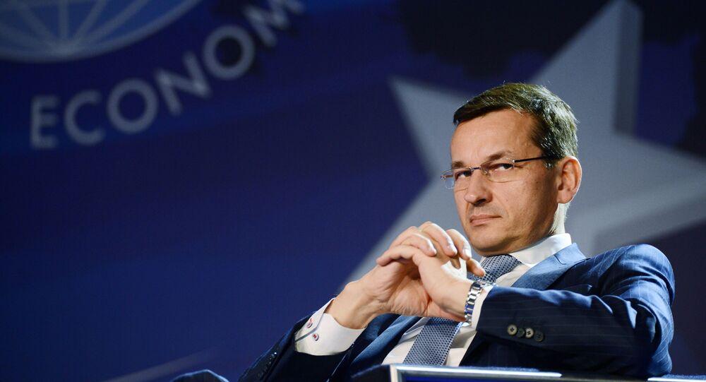 Primeiro-ministro polonês Mateusz Morawiecki