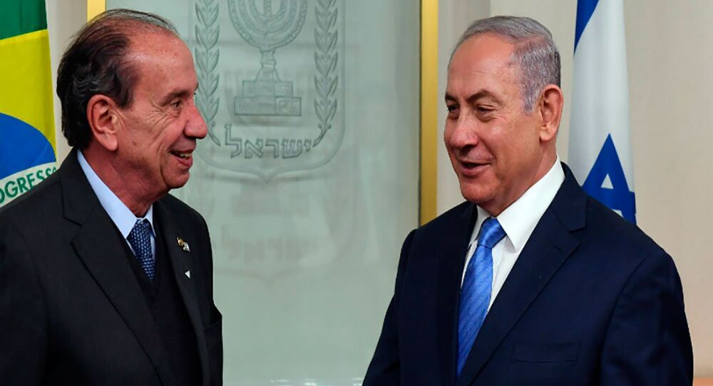 Chanceler brasileiro Aloysio Nunes se encontrou com o premiê israelense Benjamin Netanyahu