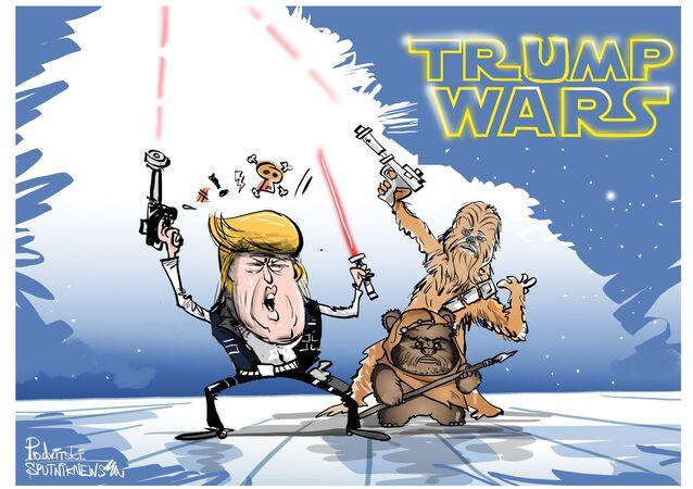 Quando guerra realmente é nas estrelas