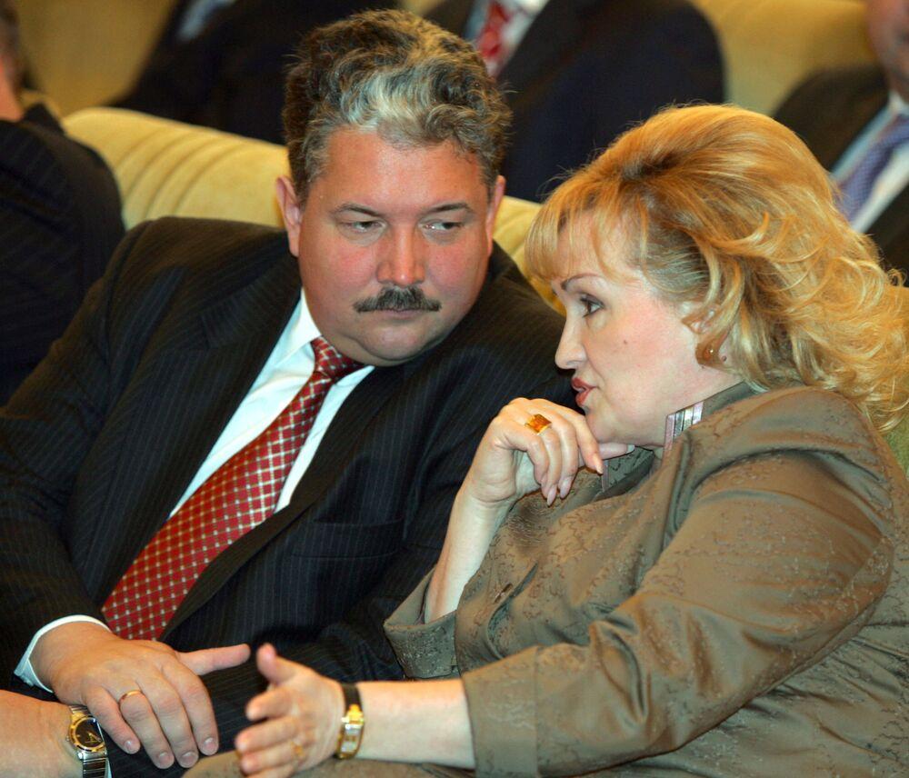 Sergei Baburin e Lyubov Sliska são vistos durante uma Mensagem do presidente da Rússia à Assembleia Federal, foto de arquivo