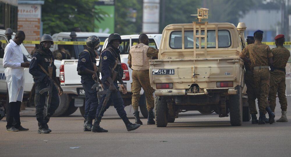 Forças de segurança em Ouagadougou, Burkina Faso