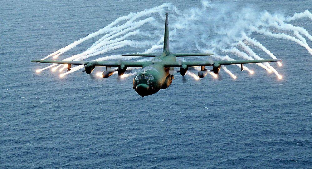 Avião de ataque ao solo AC-130 da Força Aérea dos EUA