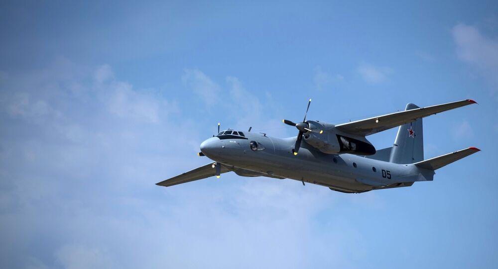 Avião de transporte militar russo An-26, foto de arquivo
