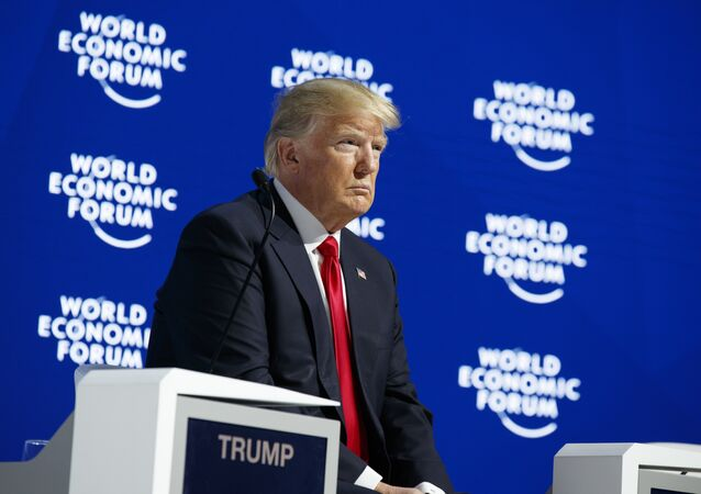 Donald Trump no Fórum Econômico Mundial.