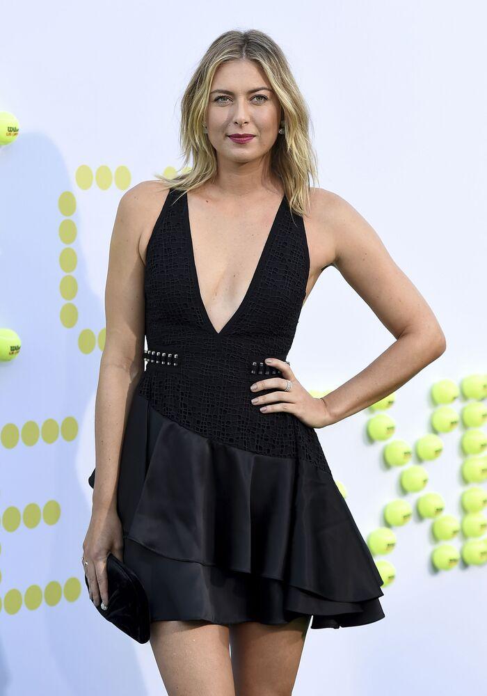 Tenista russa Maria Sharapova durante estreia do filme A Guerra dos Sexos em Los Angeles
