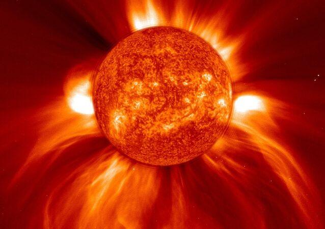 Erupção solar (imagem ilustrativa)