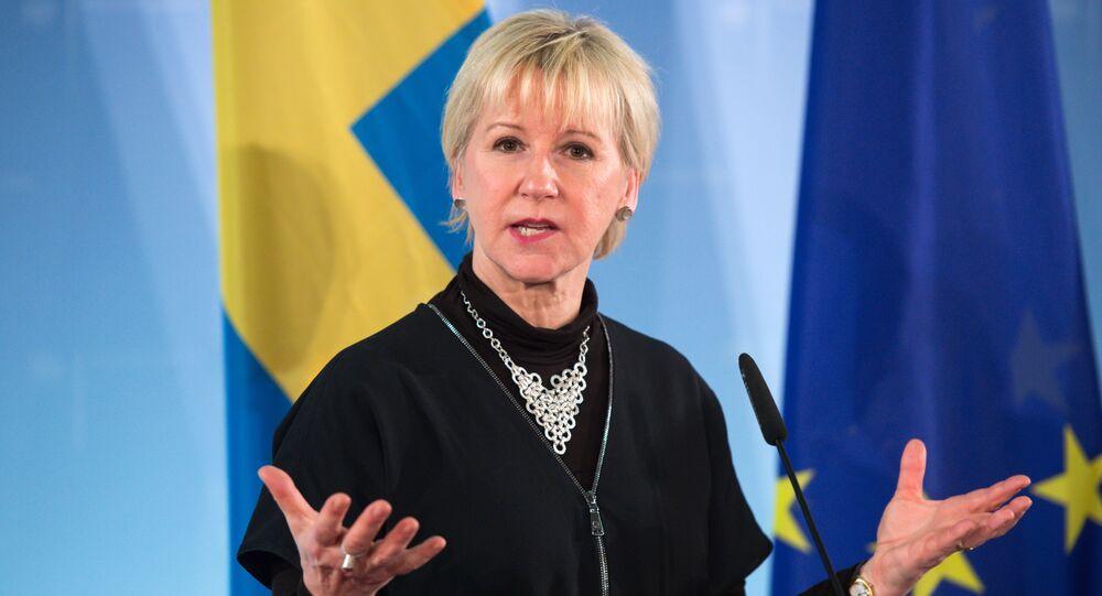 Ministra das Relações Exteriores da Suécia, Margot Wallstrom.