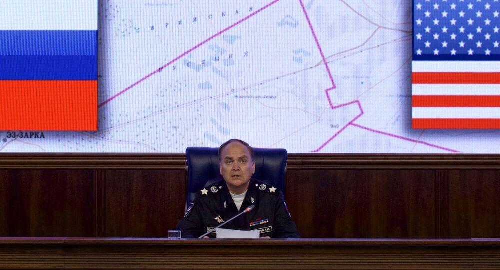O embaixador da Rússia nos EUA, à época ministro da Defesa da Rússia, Anatoly Antonov, fala em um briefing no Ministério da Defesa em Moscou (foto de arquivo)