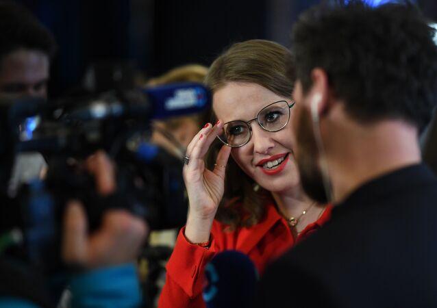 Ksenia Sobchak, candidata à Presidência da Rússia em 18 de março de 2018