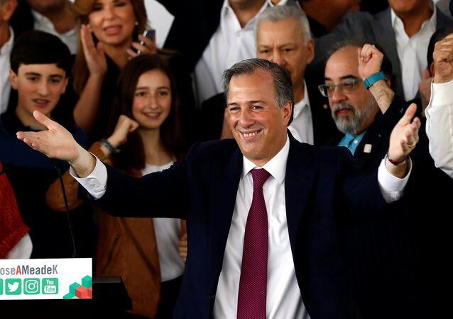 José Antonio Meade, presidenciável mexicano, em evento do lançamento de sua candidatura, em 18 de março de 2018.