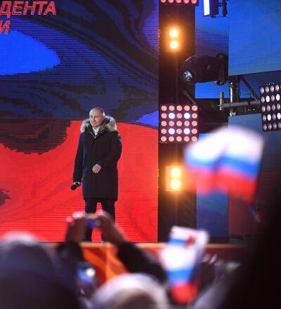 Presidente da Rússia, Vladiimr Putin, em 18 de março
