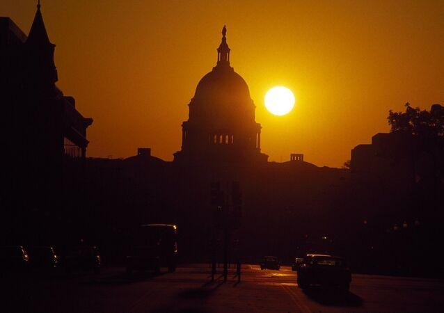 Pôr-do-sol em Washington
