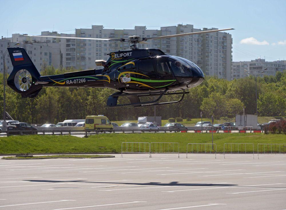 Helicóptero Eurocopter EC-130T2 chega para a HeliRussia 2015