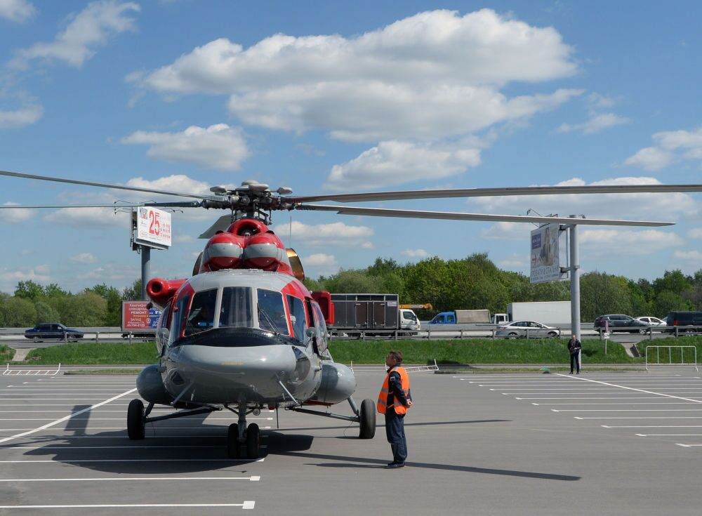 O Mi-171 E (Mi-8 AMT), que chegou a participar da exposição em Moscovo HeliRussia 2015