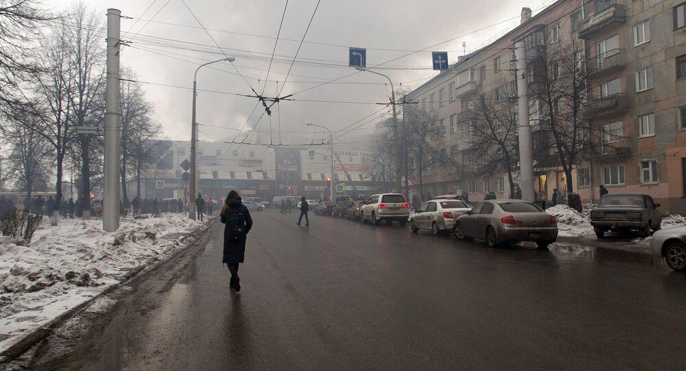 Incêndio em um shopping center em Kemerovo, na Sibéria