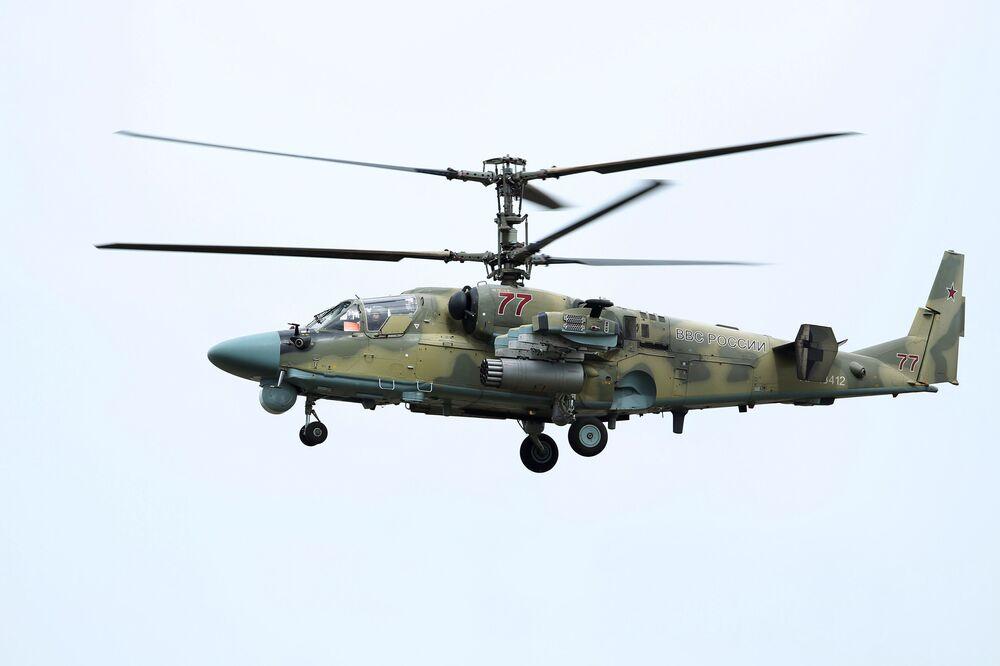 Helicóptero Ka-52 Aligator no concurso Aviadarts 2018