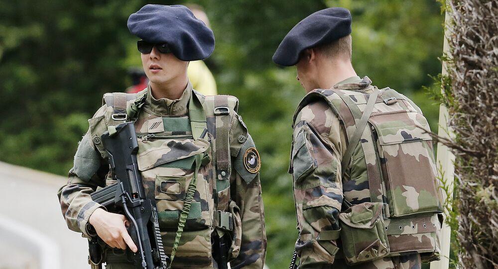 Soldados franceses (foto de arquivo)