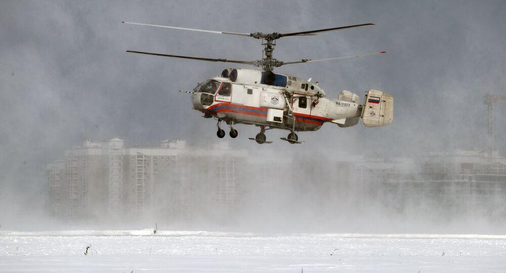 Um Ka-32A durante treinos
