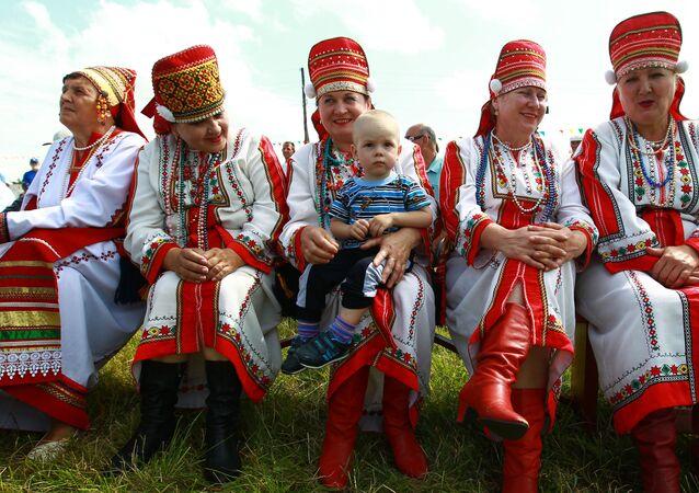 Festa folclórica na república de Mordóvia (foto de arquivo)