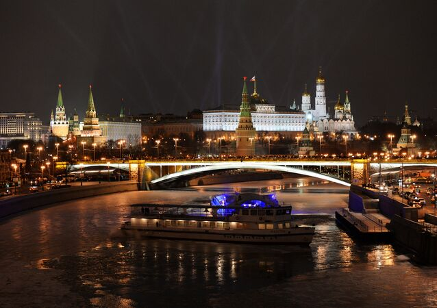 A view of the Moscow Kremlin on the New Year's Eve